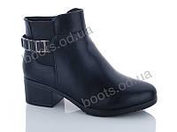 """Ботинки  женские """"PTPT"""" #588-2 black. р-р 36-41. Цвет черный. Оптом"""