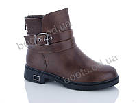 """Ботинки  женские """"PTPT"""" #E532-2 brown. р-р 36-41. Цвет коричневый. Оптом"""