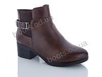 """Ботинки  женские """"PTPT"""" #E588-2 brown. р-р 36-41. Цвет коричневый. Оптом"""