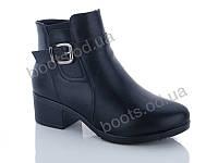 """Ботинки  женские """"PTPT"""" #588-8 black. р-р 36-41. Цвет черный. Оптом"""