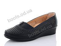 """Туфли женские  женские """"Steel Land"""" #B202. р-р 37-42. Цвет черный. Оптом"""