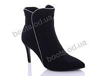 """Ботинки  женские """"Lino Marano"""" #Y206-6. р-р 35-39. Цвет черный. Оптом"""