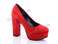 """Туфли женские  женские """"Lino Marano"""" #Y447-15. р-р 35-39. Цвет красный. Оптом"""