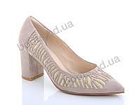 """Туфли женские  женские """"Lino Marano"""" #A242-18. р-р 35-39. Цвет бежевый. Оптом"""