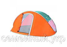 Палатка туристическая 240х210х100 + надувная кровать 203x152x25 Intex 64150, фото 3