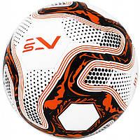 Мяч футбольный размер 5 для искусственных полей SportVida Полиуретан Бело-оранжевый (ЛФ SV-PA0026-1)