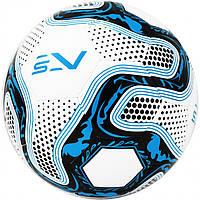 Мяч футбольный размер 5 для искусственных полей SportVida Полиуретан Бело-синий (ЛФ SV-PA0027-1)