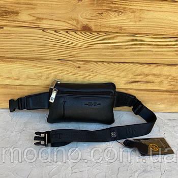 Мужская кожаная поясная сумка бананка H.T. Leather