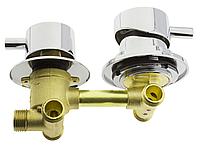 Змішувач душової кабіни (G 3-80мм) з роздільними вузлами на три положення під гайку.