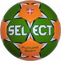 Мяч гандбольный SELECT FUTURE SOFT MICRO (зел/оранж) р.00