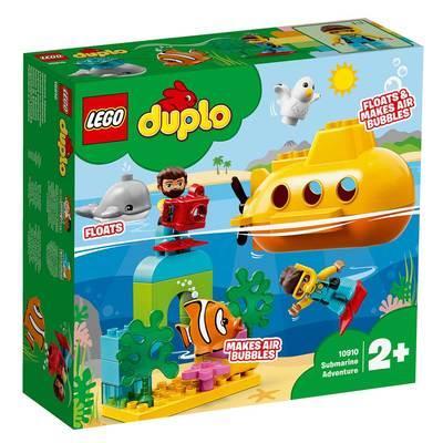 Конструктор LEGO DUPLO Приключения на подводной лодке 24 детали (10910)