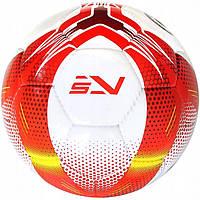 Мяч футбольный для улицы для игры на траве SportVida размер 5 Ручная сшивка PU Бело-красный (SV-PA0029-1)