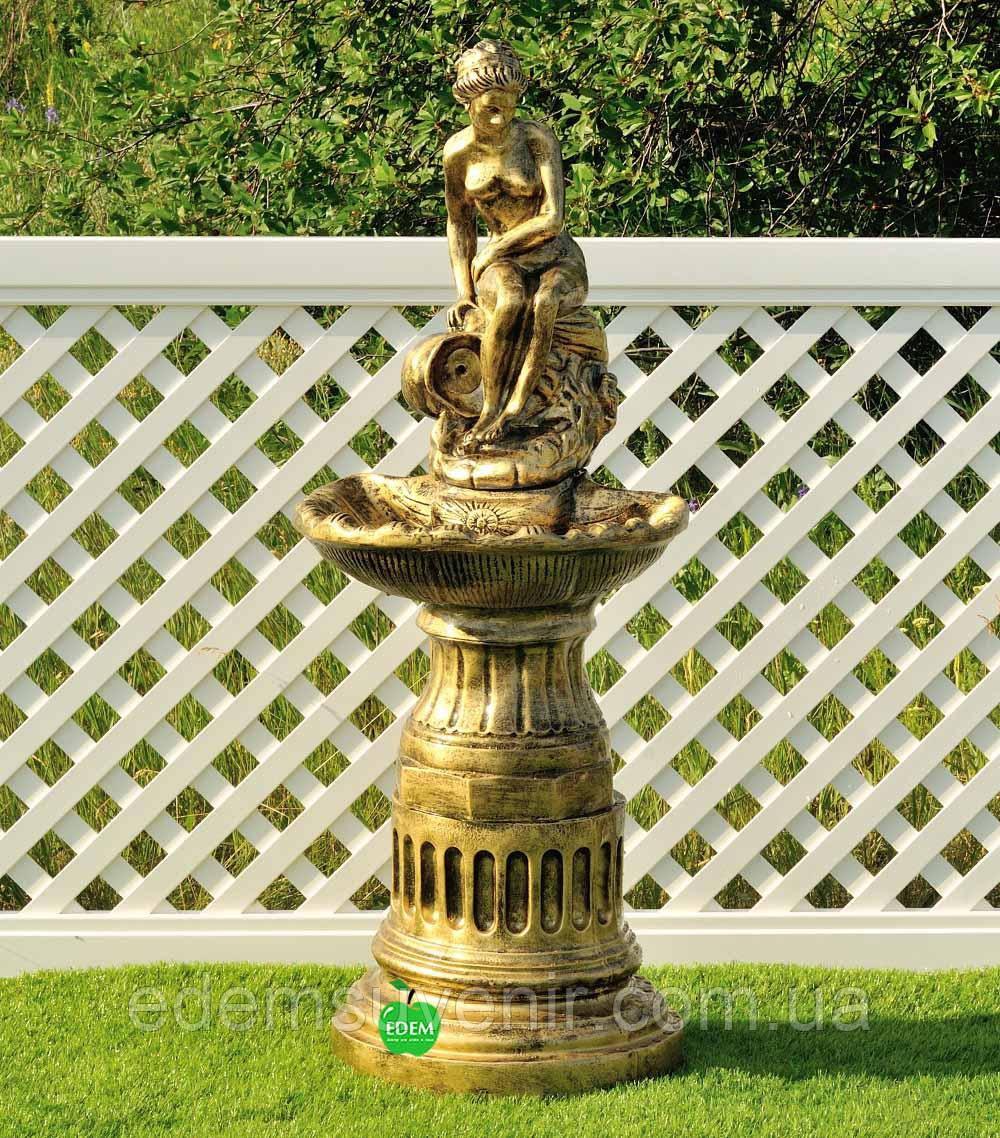 Декоративный фонтан Девушка на камне
