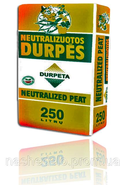 Торф нейтральный Durpeta 250 л.