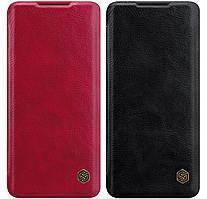 Кожаный чехол-книжка Nillkin Qin Series для Xiaomi Mi Note 10 Lite