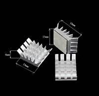 10x Алюминиевый мини радиатор 14х13х6мм, клейкий