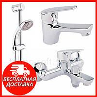 Комплект смесителей для ванной комнаты Q-tap Set 35-111. Набор смесителей 3 в 1: ванна, умывальник, гарнитур
