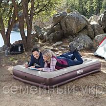 Надувной матрас 203х152х36 с подголовником Подарок! две надувные подушки Tritech Airbed Intex 67699, фото 3
