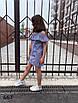 Платье для девочки полоска принт 134, фото 2