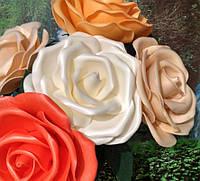 Роза белая Ростовые цветы из изолона, фото 1