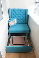 Не великий розкладний диванчик на балкон або лоджію (Бірюзовий), фото 1