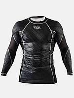 Рашгард с длинным рукавом Peresvit черный: спортивная компрессионная футболка, фото 1