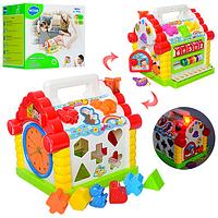 Теремок-сортер-многофункциональный развивающия музыкальная игрушка для маленьких