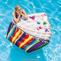 """Пляжный матрас-плот для плавания """" Кекс """" Intex"""