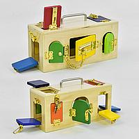 """Бизибокс для малышей """"Веселые дверки"""" модель С 37161."""