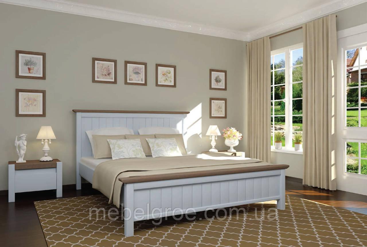 Деревянная двухспальная кровать 160 Верджиния тм Mebigrand