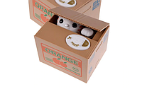 Кот в коробке - копилка забирает лапой монетку + интерактивная игрушка
