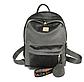 Женский велюровый рюкзак + брелок, фото 2