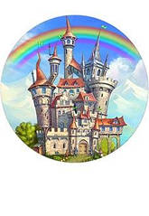 """Вафельна картинка  """"Казковий замок"""""""