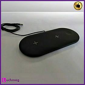 Беспроводная зарядка 3in1 Fast Wireless Charger (черная)