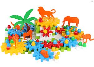 """Дитячий ігровий набір """"Конструктор зоопарк"""" ТМ ТехноК 118 деталей від 3 років, фото 2"""