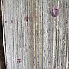 Шторы  нити дождь Белые с алмазными лавандовыми бусинами