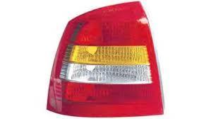 Задний фонарь Opel Astra G хетчбек 98-09 левый (Depo) красно-белый 442-1916R-UE 6223020