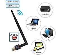 WiFi USB адаптер мережева карта Wireless LAN 802.11 b/g/n до 150Mbps з антеною 2dBi