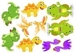 """Вафельна картинка  """"Дінозаври"""""""