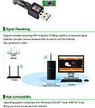 WiFi USB адаптер сетевая карта Wireless LAN 802.11 b/g/n до 150Mbps с антенной 5dBi, фото 7