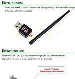 WiFi USB адаптер сетевая карта Wireless LAN 802.11 b/g/n до 150Mbps с антенной 5dBi, фото 8