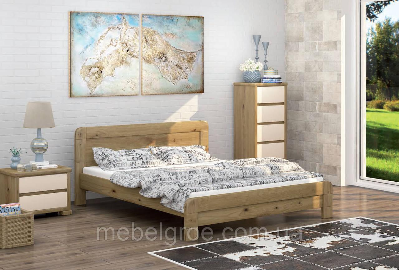 Деревянная двухспальная кровать 180 Тоскана тм Mebigrand