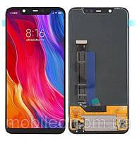Дисплей (LCD) Xiaomi Mi 8 | Mi8 Amoled с тачскрином, чёрный, оригинал (PRC)