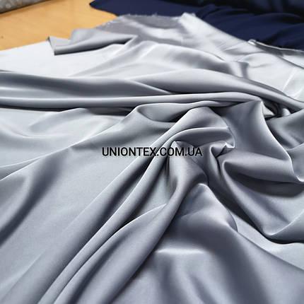 Ткань шелк-армани светло-серый, фото 2