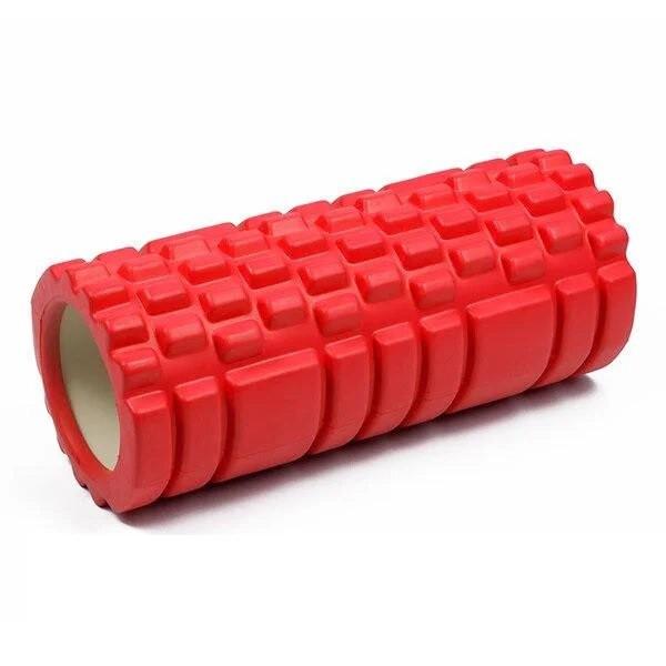 Валик-ролик массажный для йоги Красный