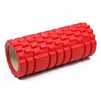 Валик-ролик массажный для йоги Красный, фото 1