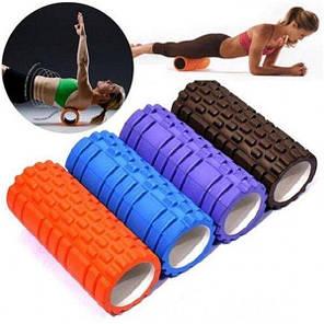 Валик-ролик массажный для йоги Красный, фото 2