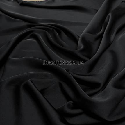 Ткань шелк-армани черный, фото 2
