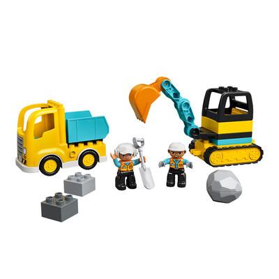 Конструктор LEGO DUPLO Грузовик и гусеничный экскаватор 20 деталей (10931)