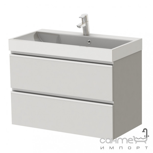 Мебель для ванных комнат и зеркала Ювента Тумба подвесная c умывальника Ювента Savona Sv-80 белая